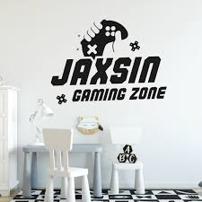 Gamer Wall Decal Gaming Zone Eat Sleep Game Controller Video Game Wall Decals Customized For Kids