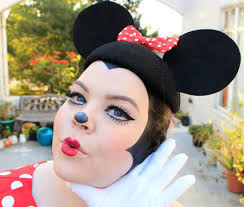 halloween y minnie mouse makeup and