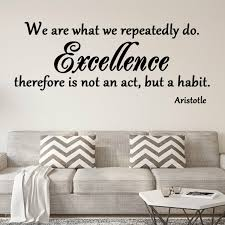 Vwaq We Are What We Repeatedly Do Inspirational Wall Decal Reviews Wayfair