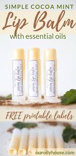 diy lip balm with essential oils our