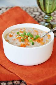 vegan chunky potato and carrot soup