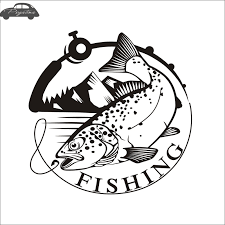 Trout Fish Fishing Car Decal Squid Posters Boat Decals Decor Mural Wall Sticker Angling Hooks Shop Vinyl Wall Stickers Aliexpress