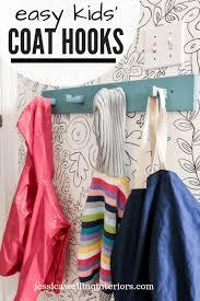 Kids Room Organization Hack Modern Coat Hooks Jessica Welling Interiors In 2020 Kids Room Organization Modern Coat Hooks Kids Coat Hooks