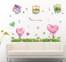 Cartoon Green Tree Grass Photo Frame Flower Wall Sticker Wall Decals Kids Rooms Wall Mural Home Decor Home Decoration Wallpaper Decor Wallpaper Sticker Wall Decalwall Decals Aliexpress