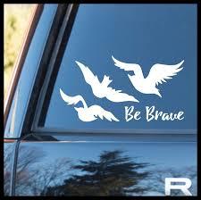 Amazon Com Be Brave Tris Ravens Tattoo Small Vinyl Car Laptop Decal Handmade