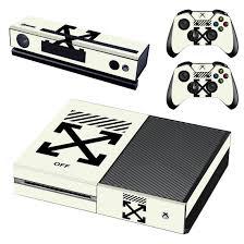 Offwhite Xbox One Skin Sticker Vinyl Bundle Logo Designer Lab Co