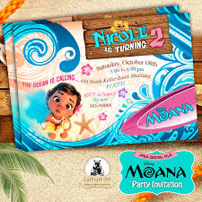 Moana Invitation Moana Party Invitation Moana Birthday Party