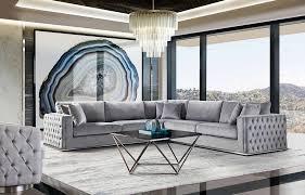 platinum grey velvet sofa ds eavan