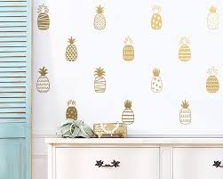 Pineapple Wall Decals Vinyl Decals Hand Drawn Patterned Pineapple Decals Modern Decals Unique Wall Decor Pineapple Decal Wall Sticker