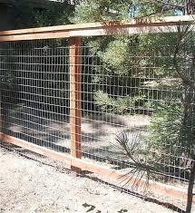 6ft Redwood Framed Field Wire Fence Design Wire Fence Diy Garden Fence