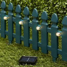 6 Ft Solar Border Fence Panel Garden Landscape Edging Stake Walmart Com Walmart Com