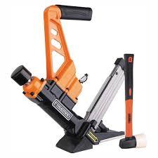 Freeman Lightweight Pneumatic 3 In 1 15 5 Gauge And 16 Gauge 2 In Flooring Nailer And Stapler Pdx50c The Home Depot