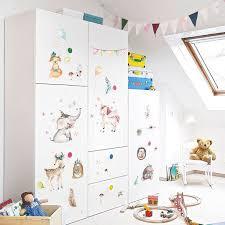 Watercolor Wall Sticker Bedroom Cupboard Kindergarten Wall Stickers For Kids Rooms Home Decor Sti Watercolor Kids Room Wall Stickers Kids Wall Stickers Bedroom