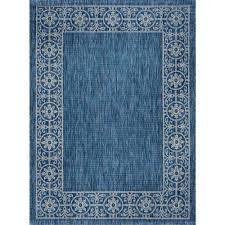 tayse rugs veranda indigo 8 ft x 10 ft