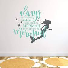 Mermaid Wall Decor Mermaid Sticker Rb109 Designedbeginnings