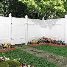 Veranda Windham 6 Ft H X 6 Ft W White Vinyl Fence Panel 73002103 The Home Depot White Vinyl Fence Vinyl Fence Landscaping Fence Panels