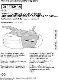 user manual garage door opener