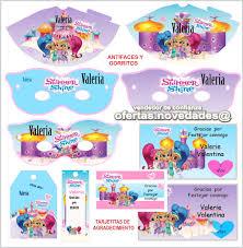 Kit Imprimible Promo 3x1 Shimmer And Shine Cumpleanos 89 00 En