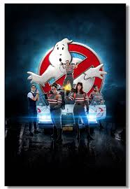 Custom Canvas Wall Decor Classic Movie Ghostbusters Poster Ghostbusters Wall Sticker Bar Cafe Wallpaper Living Room Mural 0066 Wall Stickers Aliexpress