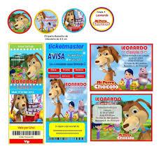 Kit Imprimible El Perro Chocolo Candy Bar Invitaciones 2 000