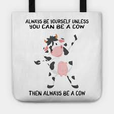 cow gifts tragetasche teepublic