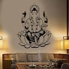 India Hinduism Elephant God Ganesha Vinyl Wall Decal Home Decor Living Room Art Mural Wall Stickers Gift Vinyl Wall Decals Wall Stickerdecoration Living Room Aliexpress