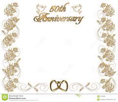 Invitacion Del Aniversario De Boda 50 Anos Stock De Ilustracion