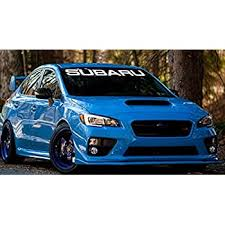 Front Rear Windshield Banner Decal Vinyl Car Sticker For Subaru Sti Transparent