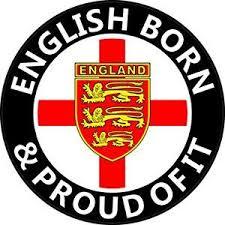 English Born St George Cross Round England Car Sticker Decal England England Flag England Tshirt