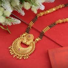 gold mangalsutra design traditional