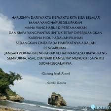 harusnya dari waktu ke wa quotes writings by gembel gunung