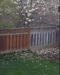Cleaning And Staining A Fence With Segments Of Different Color And Age Home Improvement Stack Exchange
