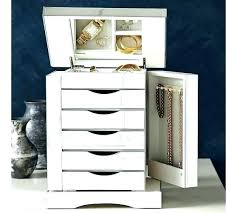 stand up mirror jewelry cabinet box