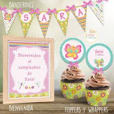 Kit Imprimible Mariposas Y Libelulas Decoracion Fiesta De