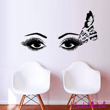 Eyelashes Wall Decal Eyelashes Wall Sticker Girls Eyes Etsy