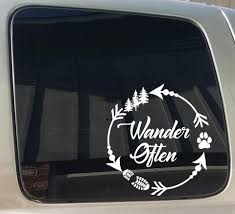 Wander Often Climb That Mountain Hiking Window Car Truck Sticker Decal Barefoot Custom Creations