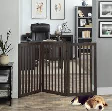 Unipaws Freestanding Wooden Dog Gate Foldable Pet Gate With 2pcs Support Feet Dog Barrier Indoor Pet Gate Panels For Stairs 36 Inch Tall 60 Inch Wide Espresso Walmart Com Walmart Com
