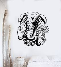 Vinyl Wall Decal God Ganesha Hindu Elephant Indian Deity Religion Stic Wallstickers4you