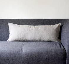 Lumbar throw pillow - long lumbar, natural linen pillow cover for  decorative pillow inserts - bench cushions 14x36 0042 | Lumbar pillow  cover, Throw pillows, Pillows