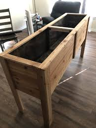 Thanks To Dewalt Ryobi Rigid Black Decker And Finally Home Depot I Have Finished My First Project Cedar Planter Box My Hatch Green Chile S Are Ready For Their New Home