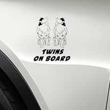 Yjzt 12 5cm 15cm Baby Twins On Board Car Decal Vinyl Sticker Black Silver C10 00777 Car Stickers Aliexpress