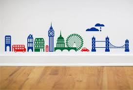 London Skyline Wall Decal Grey Wolf Graphics Wall Decals London Wall Sticker Wall Art