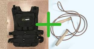 jumping rope with a weighted vest