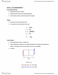 Stat 1000 Lecture Notes Fall 2017 Lecture 7 Box Plot