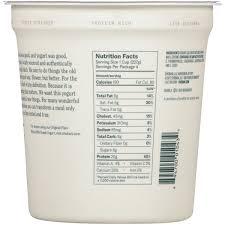 chobani plain greek yogurt nutrition label