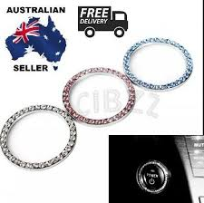 Car Auto Key Ignition Button Decal Sticker Rhinestone Ring Choose 3 From Colors Ebay