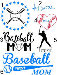 Baseball Mom Vinyl Decal Etsy