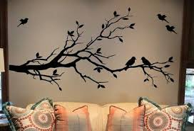 Large Tree Branch Wall Decal Deco Art Sticker Mural With 10 Birds Ebay