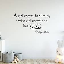 Vwaq A Girl Knows Her Limits A Wise Girl Knows She Has None Marilyn Monroe Wall Decal Reviews Wayfair
