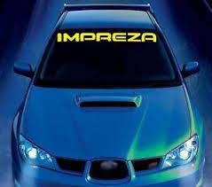 For Subaru Impreza Car Vinyl Sticker Windscreen Windshield Banner Decal Graphics Ebay